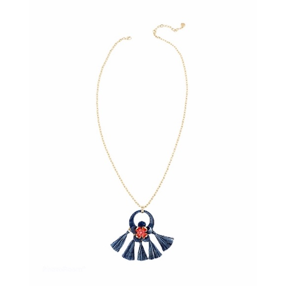 NWT Lilly Pulitzer Maritime Tassel Long Necklace